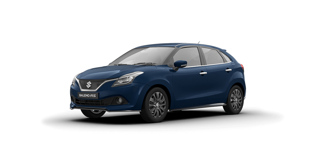 Baleno RS Ray Blue Car Front Side View