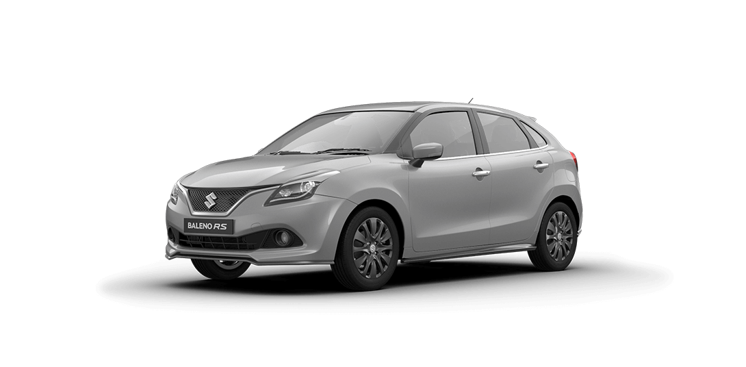 Baleno RS Silver Car Front Side View