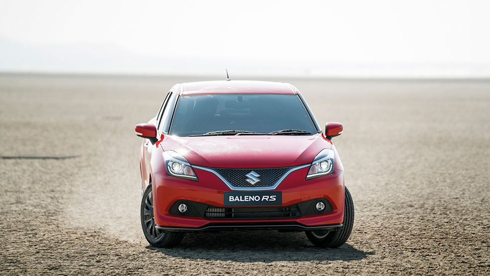 Baleno RS Wallpaper - Arctic Fire Red
